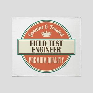 field test engineer vintage logo Throw Blanket