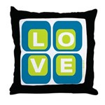 70s Squared Love | Throw Pillow