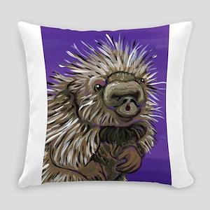 Purple Porcupine Everyday Pillow
