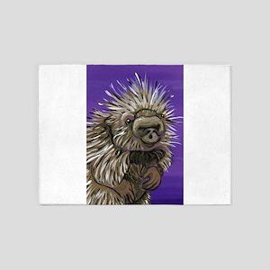 Purple Porcupine 5'x7'Area Rug