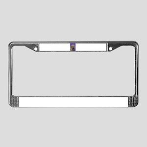 Purple Porcupine License Plate Frame