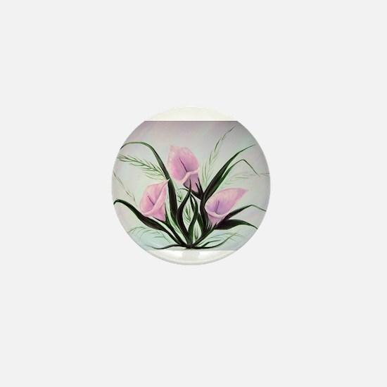 calla lily bouquet Mini Button