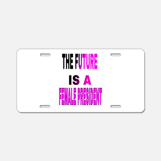 The Future Is A Aluminum License Plate
