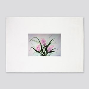 calla lily bouquet 5'x7'Area Rug