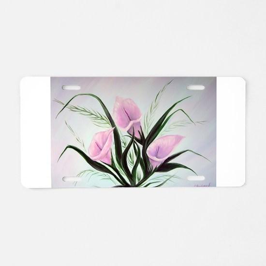 calla lily bouquet Aluminum License Plate