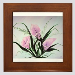 calla lily bouquet Framed Tile