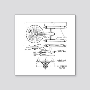 USS Enterprise blueprint - Star Trek Sticker