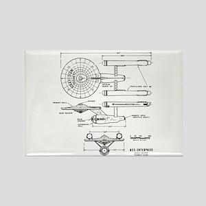 USS Enterprise blueprint - Star Trek Magnets