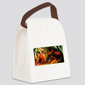 Koi, Fish pond photo Canvas Lunch Bag