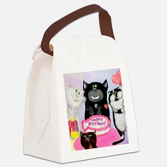 Funny Cat comics Canvas Lunch Bag