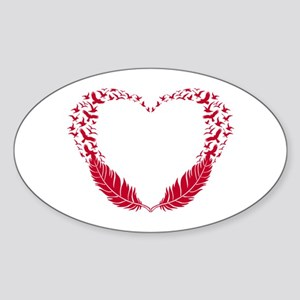 Heart with flying birds Sticker