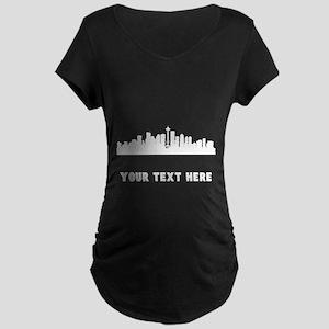 Seattle Cityscape Skyline (Custom) Maternity T-Shi