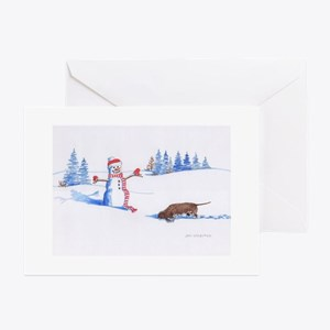 IWS and Snowman #1 Greeting Cards