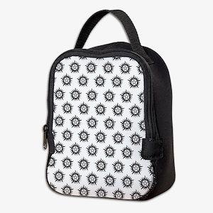 Supernatural Pattern Black Neoprene Lunch Bag