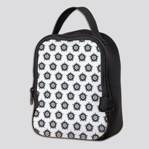Supernatural Pattern Black Neoprene Lunch Bag