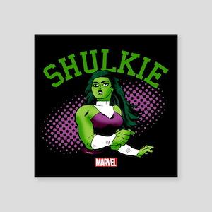 She-Hulk Shulkie Square Sticker