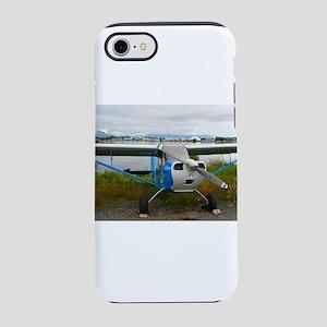 High wing aircraft, blue &am iPhone 8/7 Tough Case
