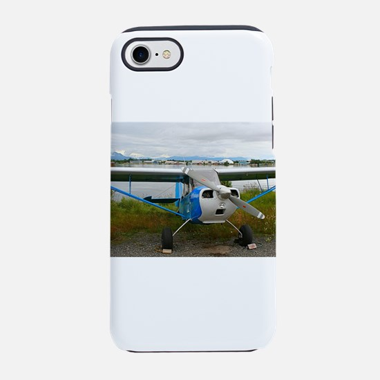 High wing aircraft, blue &am iPhone 8/7 Tough Case