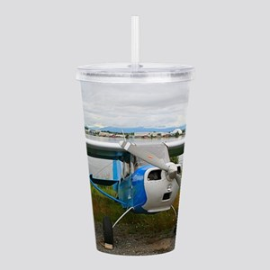 High wing aircraft, bl Acrylic Double-wall Tumbler