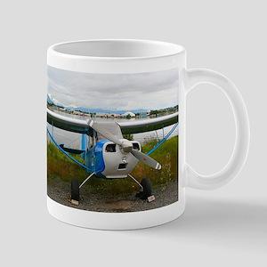 High wing aircraft, blue & white, Alaska Mugs