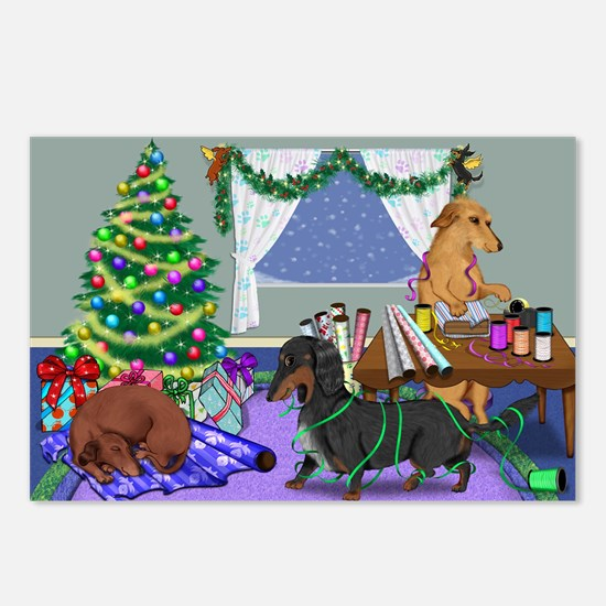 Dachshund Christmas Postcards (Package of 8)