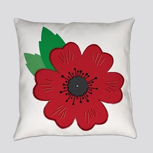 Remembrance Day Poppy Everyday Pillow