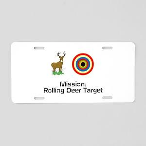Deer Target Aluminum License Plate