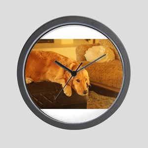 golden retriever relaxin Wall Clock