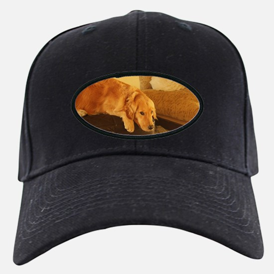 golden retriever relaxin Baseball Hat