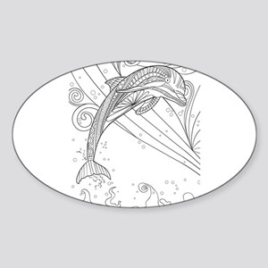 Dolphin black & white Sticker