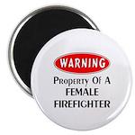 Female Firefighter Property Magnet