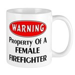 Female Firefighter Property Mug