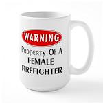 Female Firefighter Property Large Mug