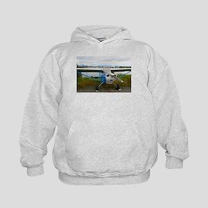 High wing aircraft, blue & white, A Sweatshirt