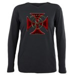 USA or Nothing Iron Cros Plus Size Long Sleeve Tee
