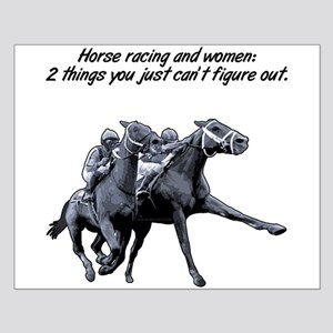 Horse racing and women. Small Poster