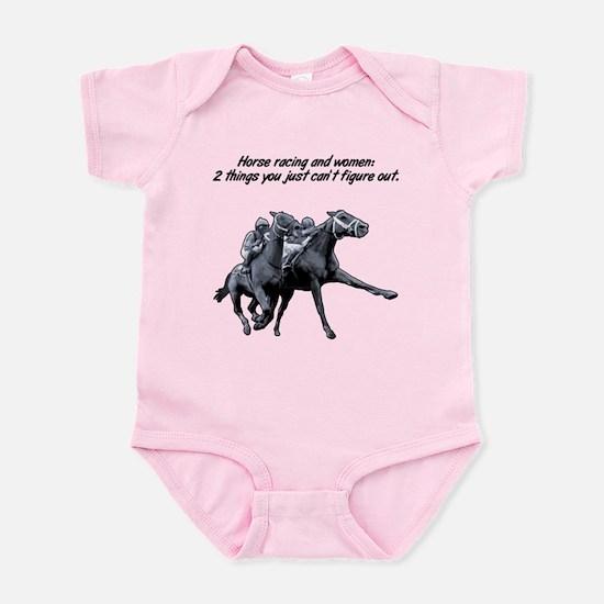 Horse racing and women. Infant Bodysuit