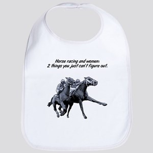 Horse racing and women. Bib