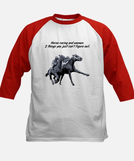 Horse racing and women. Kids Baseball Jersey