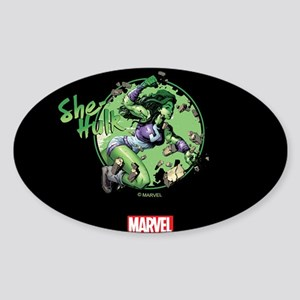 She-Hulk Punching Tumbler Sticker