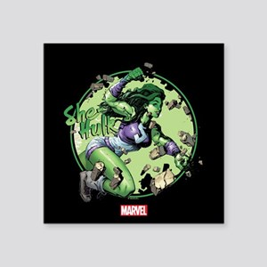 She-Hulk Punching Square Sticker