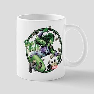 She-Hulk Punching Mugs