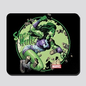 She-Hulk Punching Mouse Pad Mousepad