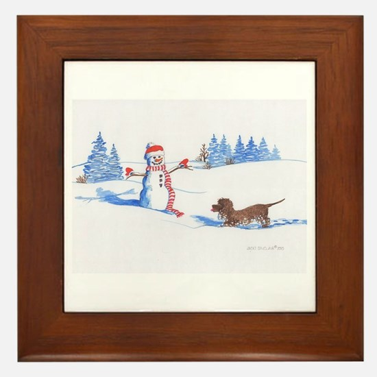 IWS and Snowman #2 Framed Tile
