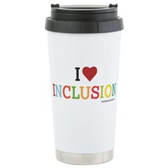 I Heart Inclusion Stainless Steel Travel Mug