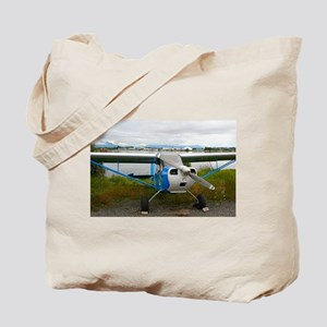 High wing aircraft, blue & white, Ala Tote Bag