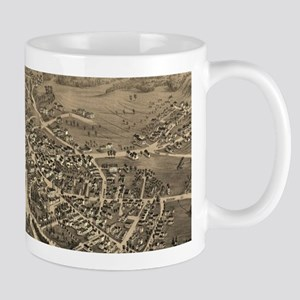 Vintage Pictorial Map of Laconia NH (1883) Mugs