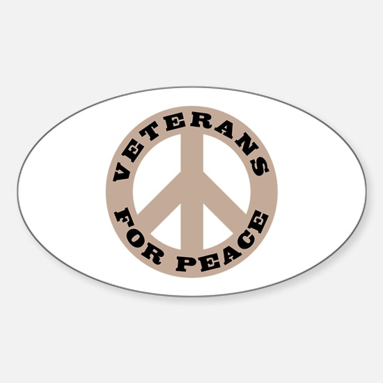 Veterans For Peace Oval Decal