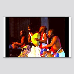 African Dance Troupe - Rectangle Sticker