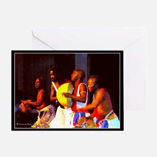 African Dance Troupe - Greeting Card